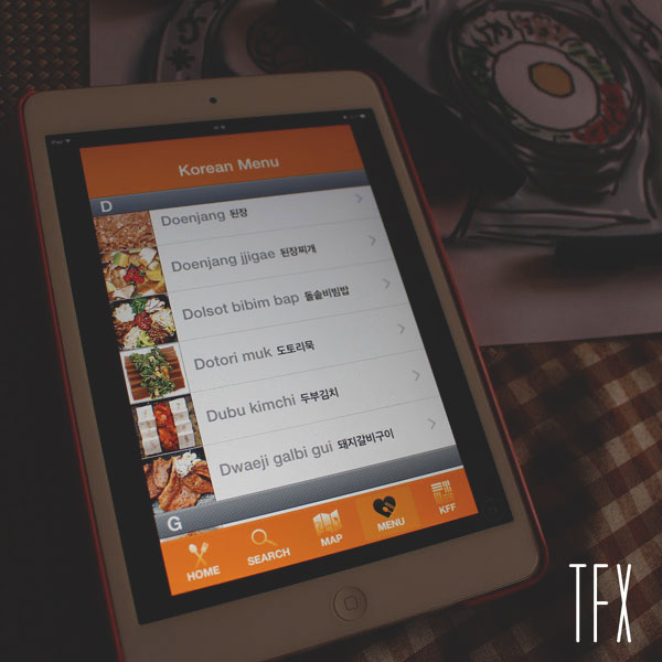 Korean-Restaurant-Guide-KFF-Menu-new---IOS-Review