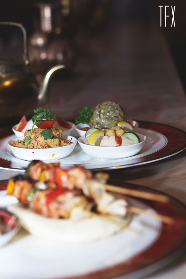 Mezze Platter  (Hummus, Tabouleh, Mutabbal, Labneh, Pita bread ) - IDR 120k